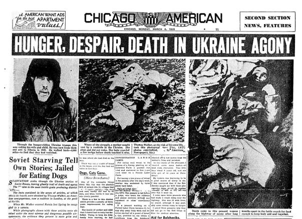 Chicago Jornal - Hambre en Ucrania