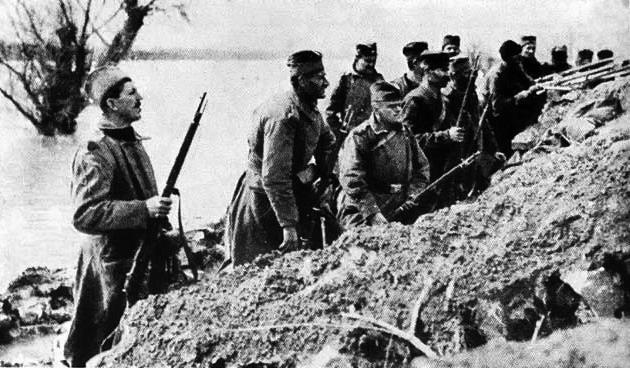 Los duros serbios, los belgas del frente oriental