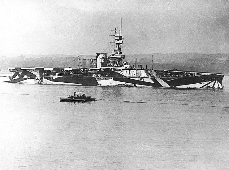 HMS Furious en 1918 | Fuente