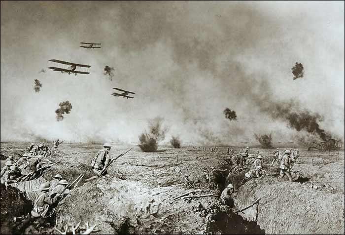 Aviones, proyectiles de artillería y trincheras | Fuente