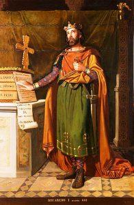 Retrato imaginario de Recaredo I, rey de los Visigodos, de Dióscoro Puebla (1857) | Fuente: Museo del Prado, Madrid https://commons.wikimedia.org/wiki/File:Recaredo_I,_rey_de_los_Visigodos_(Museo_del_Prado).jpg