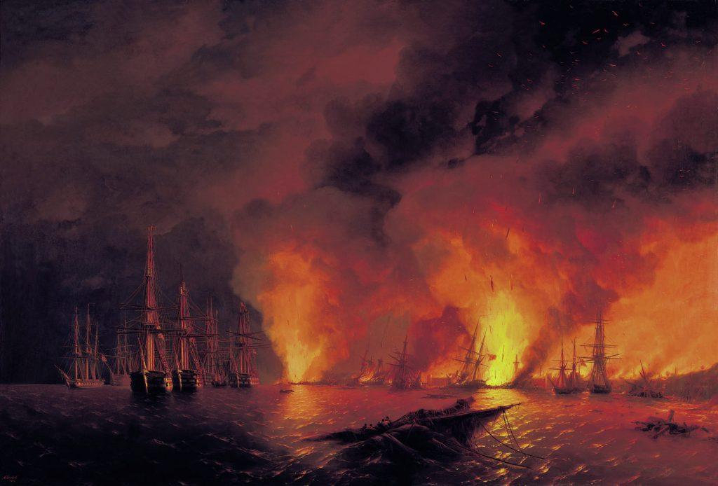Batalla de Sinope, Guerra de Crimea, 1853