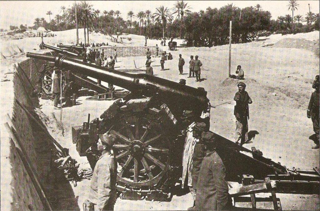 Baterías italianas cerca de Trípoli