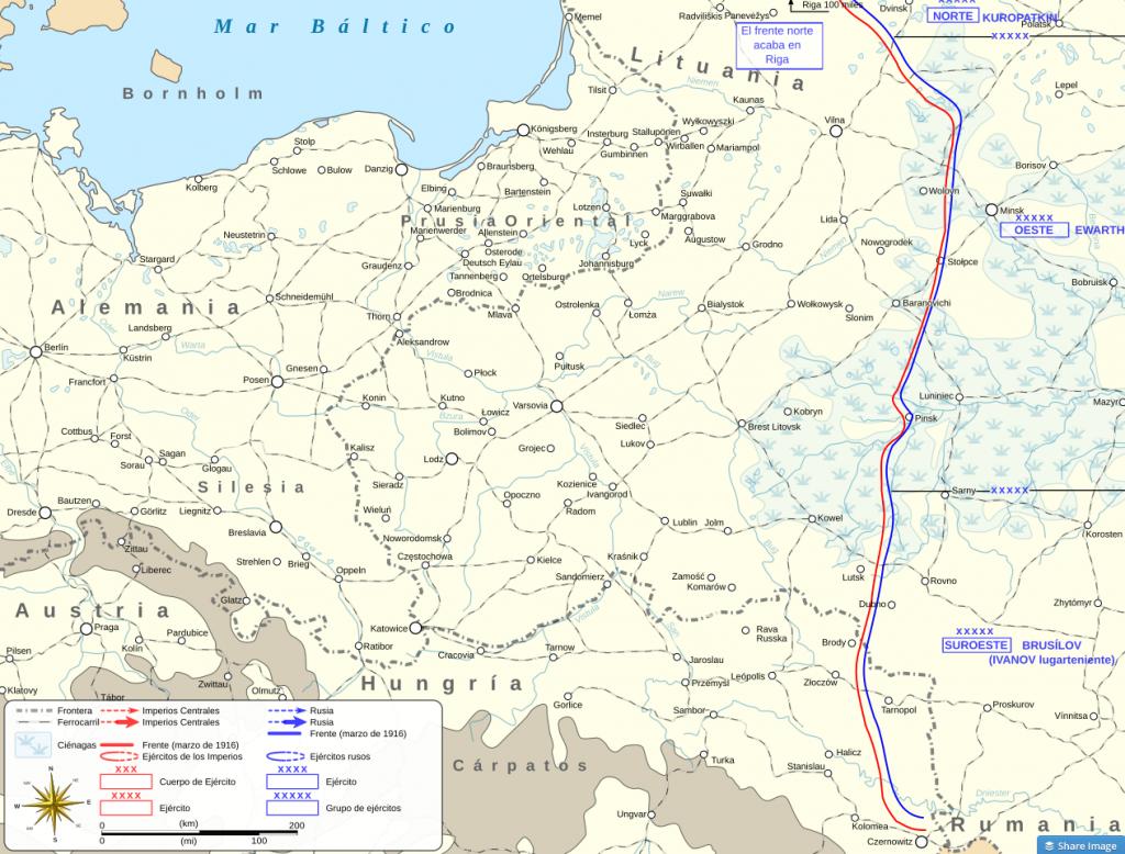 El frente ruso en 1916