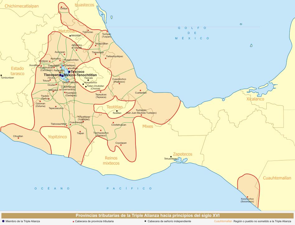 territorios aztecas