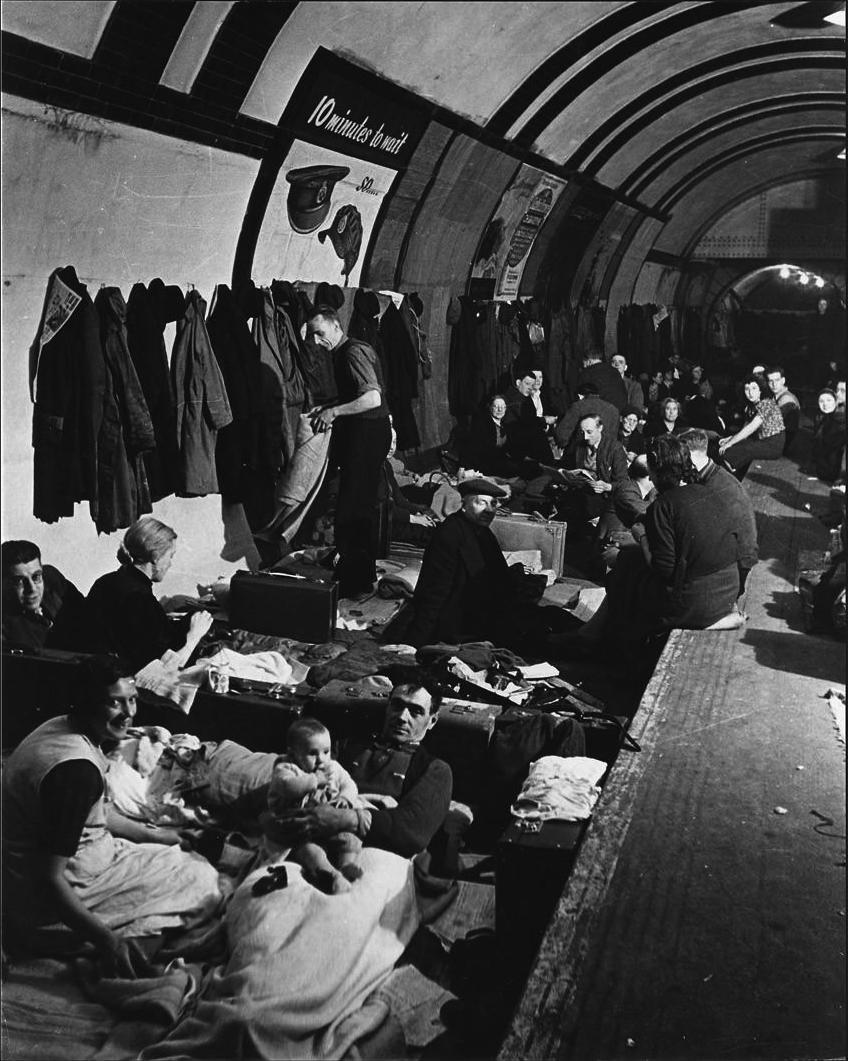 Londres metro refugio