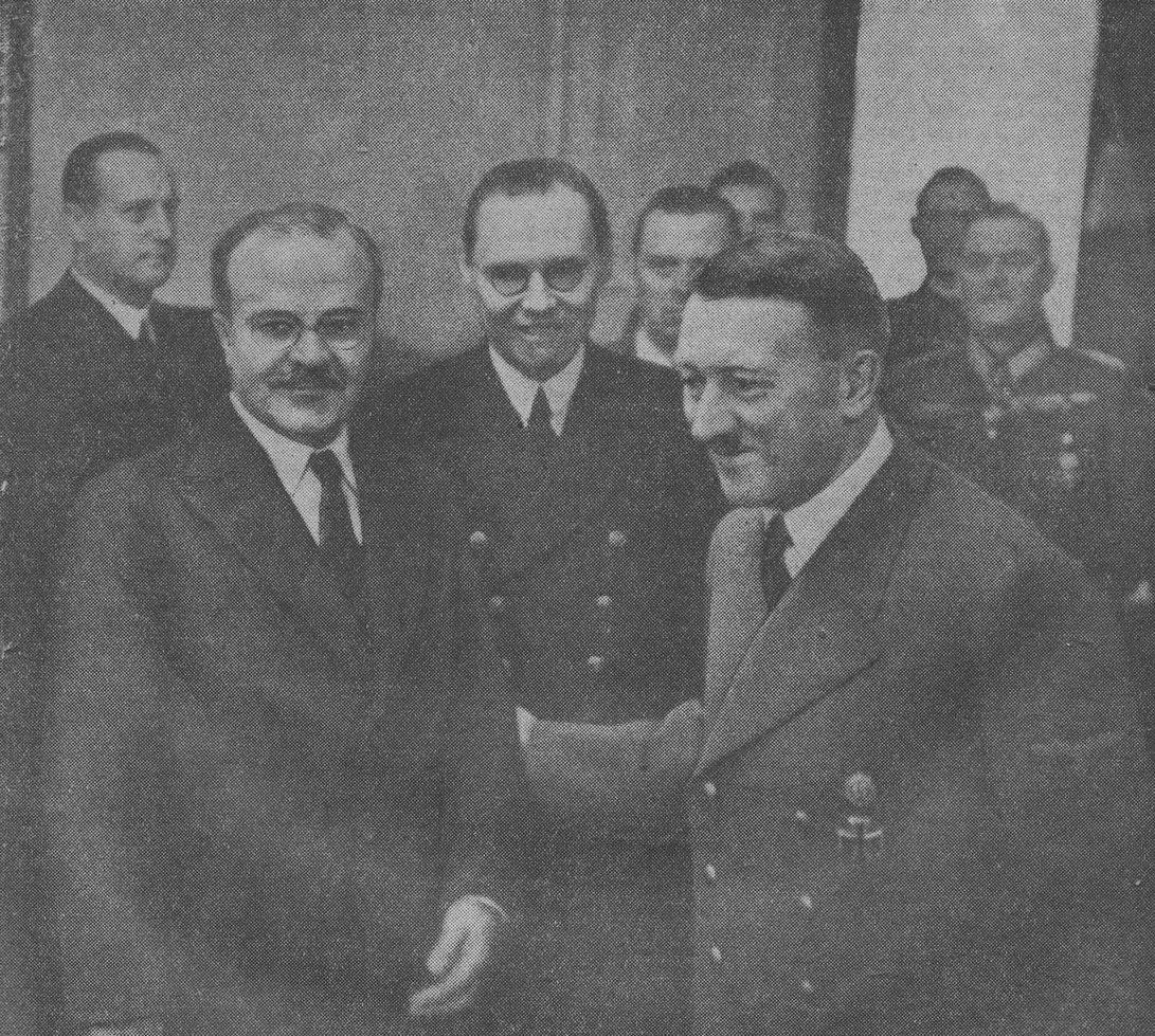 Hitler recibe a Molotov