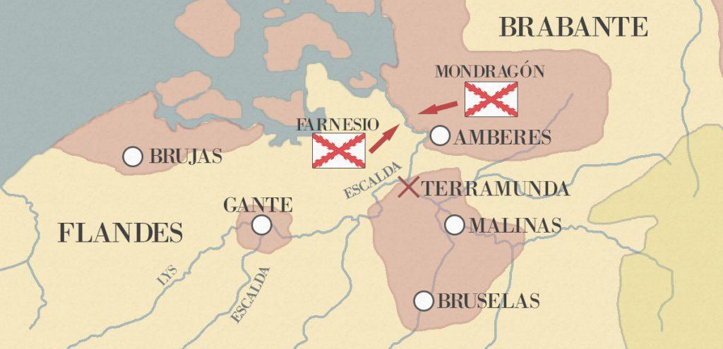 sitio de amberes mapa 2