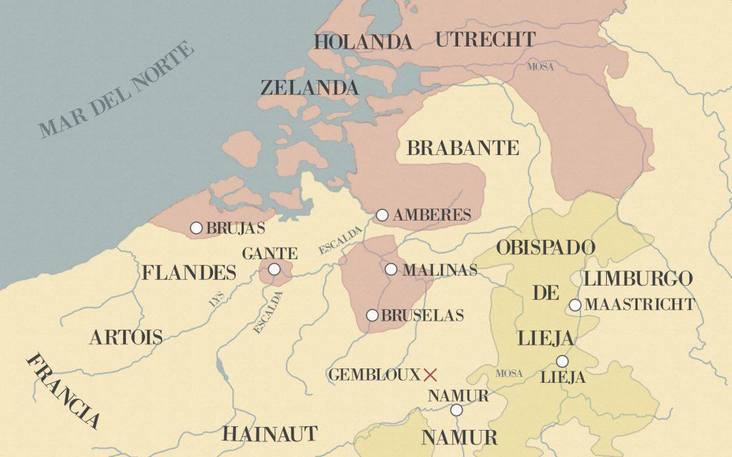 sitio de amberes mapa 1