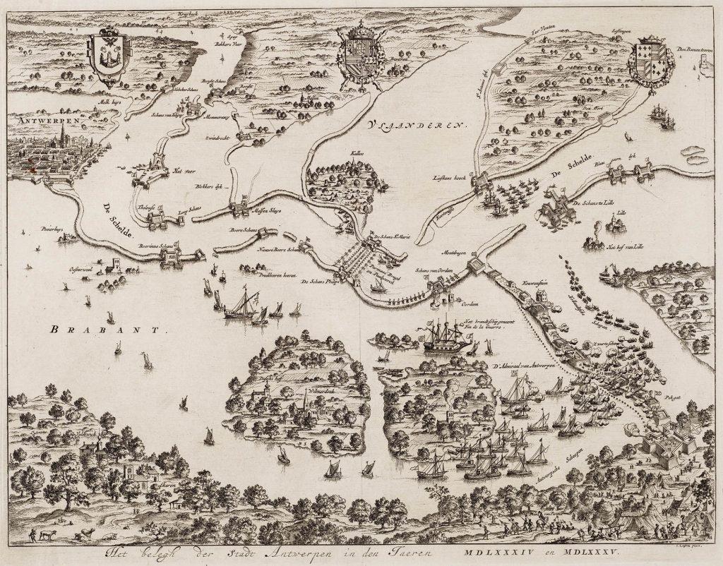 sitio de amberes mapa general