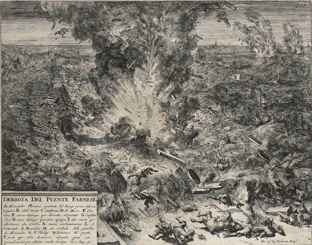 sitio de amberes explosion